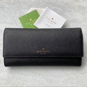 Kate Spade Black Leather iPhone Case Wallet